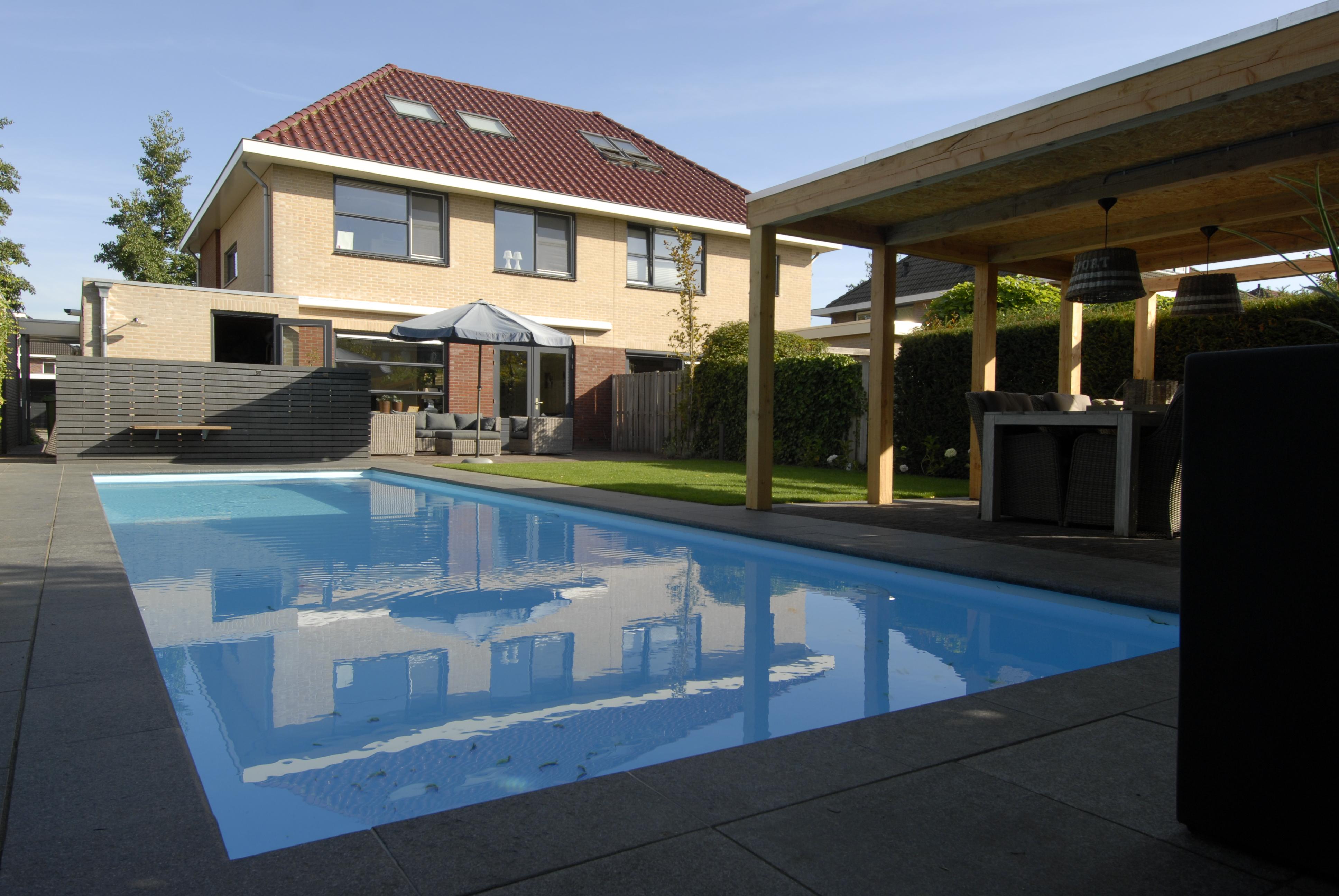 zwembad aanleggen tuin